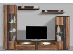 Jetzt Wohnwand (5-tlg.) günstig im yourhome Online Shop bestellen Tv Panel, Modern, Tv Units, Living Rooms, Furniture, Medium, Home Decor, Pretty, Glass Floor