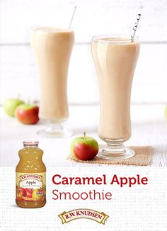 Finally, a rich and creamy seasonal smoothie—ready in minutes! Add our Apple Juice to vanilla Greek yogurt, peanut butter, and sweet apple sauce for a taste of fall. Drizzle with smooth caramel and enjoy. Find this and other great recipes now.