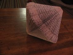 Cool upcycling idea for parties: making folded paper books