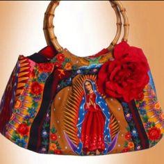Virgen de Guadalupe purse- I WANT ONE!!!
