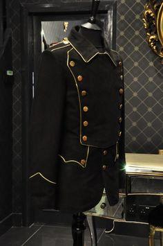 mens steampunk jacket   Military Mens Leather Nubuck Steampunk Uniform Jacket   eBay