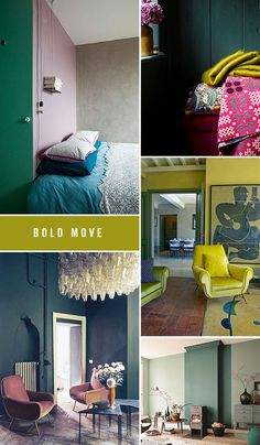 bold choices in paint color / sfgirlbybay