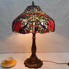 Dragonfly Tiffany Lamp  16S4-118T305