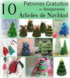 Arte Friki: 10 Patrones Gratuitos de Árboles de Navidad en Ami...