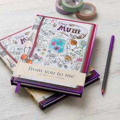 Dear Mum is a journal that asks Mum over 60 fun and inspiring questions to make her reminisce and smile. By From You to Me