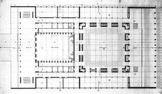 Pianta Originale_Febbraio 1938_Commissione così composta: Caffarelli, Del Debbio, Foschini, Muzio, Oppo, Pavolini e Piccinato.