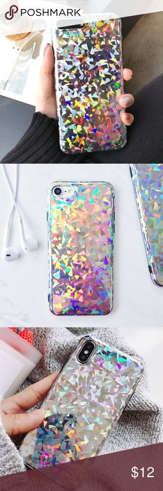 iPhone Holographic Prism Case Please note this is a FLAT case NOT 3D! Brand new rainbow color changing rubber case Available for: iPhone 6 iPhone 6s iPhone 6 Plus iPhone 6s Plus iPhone 7 iPhone 7 Plus iPhone 8 iPhone 8 Plus iPhone X Accessories Phone Cases