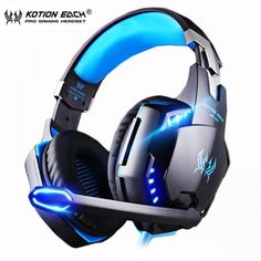 Cheap Offer for KOTION EACH Gaming Headset Deep bass Stereo Casque Wired Game Earphones Gaming Headphones with Microphone for PC Laptop Ps4 Gaming Headset, Gaming Headphones, Headphones With Microphone, Best Headphones, Headphone With Mic, Gaming Desk, Playstation, Top Watches For Men, Diamond Watches For Men