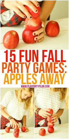 15 fun fall party games that are perfect for every age - for kids, for adults, f.- 15 fun fall party games that are perfect for every age – for kids, for adults, f… 15 fun fall party games that are perfect for every age -… - Harvest Party Games, Fall Party Games, Fall Harvest Party, Outdoor Party Games, Fall Games, Halloween Party Games, Birthday Party Games, Fall Halloween, Halloween Games For Adults