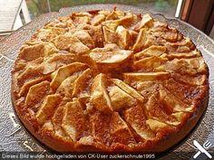 Apfelkuchen mit Buttermilch und Zimtguss
