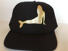 High Profile Front Foam Mermaid Trucker Hat: by MermaidSoulWahine