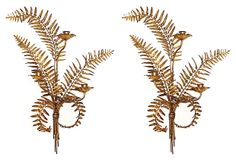 Gilded Fern Candle Sconces, Pair on OneKingsLane.com