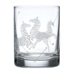 scalamandre by lenox zebra old-fashioned glasses