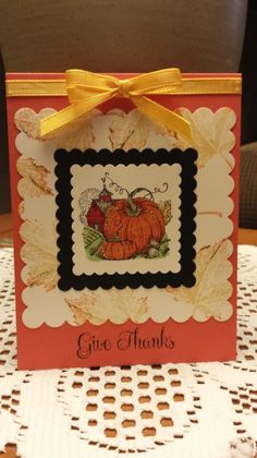 Thanksgiving card - Stampin Up Best of Autumn