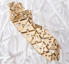 Nervous System 3D Printed Gold Kinematics Swatch 1