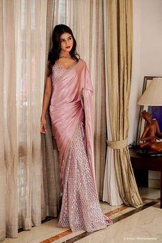 Indian Bridal Fashion, Indian Fashion Dresses, Indian Wedding Outfits, Indian Designer Outfits, Indian Outfits, Saree Fashion, Ethnic Fashion, Fancy Sarees, Party Wear Sarees