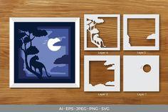3d Paper Art, Diy Paper, Shark Party Decorations, Flower Drawing Tutorials, Floral Letters, Paper Frames, File Format, Kirigami, Box Art