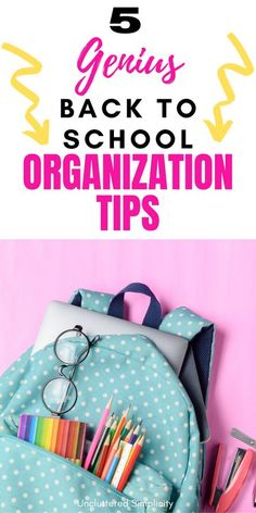 Back to school organizing tips for busy parents featuring organized entryways, school paper organization, kid's clothes and setting up a homework station... School Supply Storage, School Paper Organization, Garage Organization Tips, Entryway Organization, Small Space Organization, Organizing Tips, Back To School Hacks, School Ideas, Homework Station
