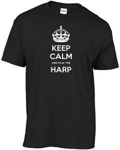 Kalmte bewaren en spelen van de harp t-shirt