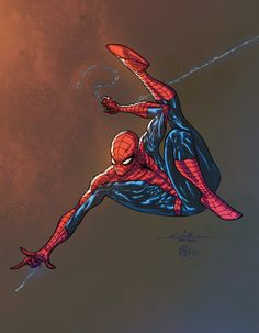 Spidey - color practice by ZethKeeper on DeviantArt