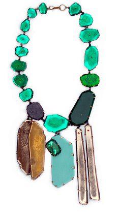 Nicki Coupee Emerald Necklace