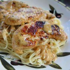 chicken lazone - creamy chili chicken pasta