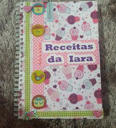 Caderno de receitas #scrapbook #receitas #papelariapersonalizada #papelariacriativa #papelaria