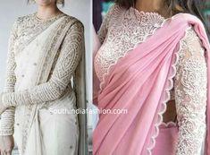 Full Sleeves Blouse Designs, Full Sleeves Design, Saree Blouse Neck Designs, Sleeves Designs For Dresses, Fancy Blouse Designs, Bridal Blouse Designs, Saris, Sari Bluse, Indie Mode
