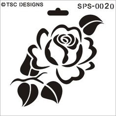 SPS-0020 Elegant rose - TSC Stencil Designs