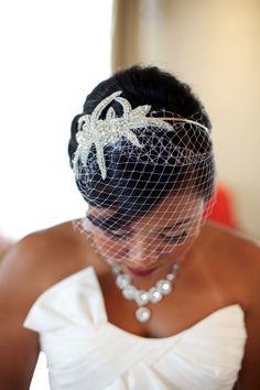 Crystal Bridal Birdcage Veil