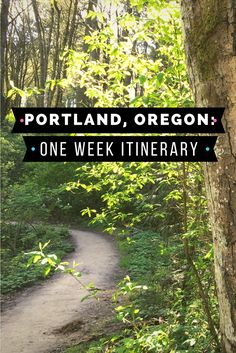 How to have seven perfect days in Portland, Oregon.  Here is a day by day itinerary of what to see, do and eat in the Rose City.