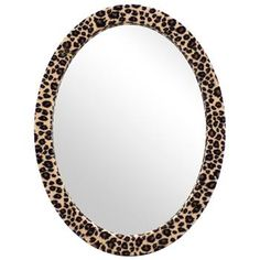 Leopard Framed Mirror