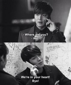 ~ the heirs ~ Heirs Korean Drama, Korean Drama Funny, Korean Drama Quotes, Korean Dramas, Lee Min Ho, Hyun Bin, Oh My Ghostess, Moorim School, My Love From Another Star