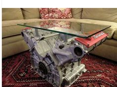 Maserati engine coffee table