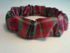 Christmas Plaid  Dog Collar Cover Scrunchie Custom Made by Linda XS S M L #CustommadebyLinda