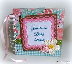 GRANDMA'S Brag Book photo album scrapbook by secondsisterdesigns