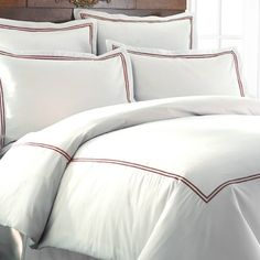 Shop for Echelon Home Three Line Hotel Collection Cotton Sateen Duvet Cover Set. Get free delivery On EVERYTHING* Overstock - Your Online Fashion Bedding Store! Duvet Sets, Duvet Cover Sets, Best Duvet Covers, Neutral Paint Colors, Furniture Market, Luxury Bedding Sets, Queen Duvet, Linen Bedding, Bed Linens