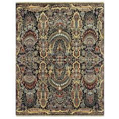 Indian Agra Rug | From a unique collection of antique and modern indian rugs at https://www.1stdibs.com/furniture/rugs-carpets/indian-rugs/