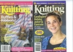 Knitting Digest Magazine Nov 2001  & May 2000 Pre-Owned Really Good Condition #KnittingDigest #Backissues #Knittingpatterns