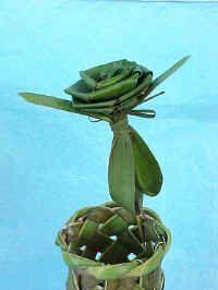 acsr57rose.jpg (41729 bytes)Palm Weaving, Art, Crafts, Key West