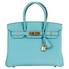 Check out this item at One Kings Lane! Hermès Birkin Blue Atolle