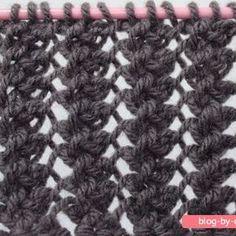 Cachecol By Day :: Programa Kombina Knitting Stiches, Knitting Blogs, Lace Knitting, Knitting Projects, Crochet Stitches, Stitch Patterns, Knitting Patterns, Sewing Patterns, Tunisian Crochet