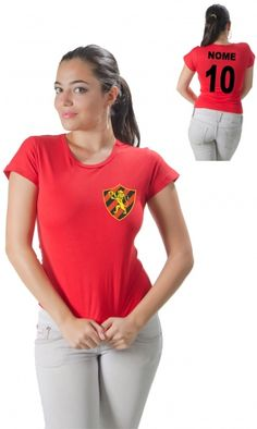 Camiseta Personalizada do Sport Com Seu Nome e Número - Reis Online Camisetas Personalizadas