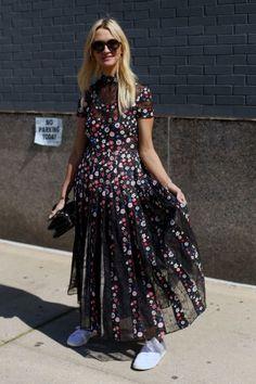 Marie Claire's Zanna Roberts Rassi in Valentino. Photo: Angela Datre/Fashionista