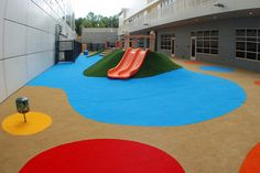 An Innovative play space at Home Depot headquarters created by ForeverLawn. Playground Grass was designed to hold up to the extreme traffic a playground endures. We have devised a unique blade structure and new yarn that resists wear up to four times that of other synthetic grasses. We have a revolutionary new seaming system that insures that your kids will wear out before our seams do.