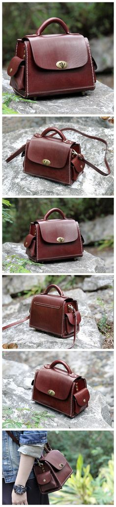 Genuine Leather Messenger Bag Women's Handbag Handmade Satchel Bag