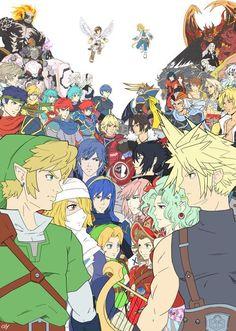#Zelda #SquareEnix #Nintendo #FinalFantasy #Crossover #DreamCrossover #Gaming #Versus