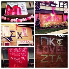 ZTA's Iota Phi Chapter at N.C. State University held their annual Pink Out Your House Competition