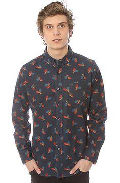 Obey Edger Buttondown Shirt Navy