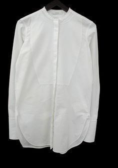 "lacollectionneuse: "" mandarin collar shirt (fr 36) • céline """
